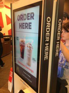 McDonald's, touchscreen kiosks