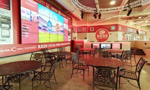 AV installations, AV integration projects, KD-MAX8x8, KD-IP1080RX, KD-IP1080TX, Key Digital, Cincinnati Reds, Champions Club, Scouts Club, Great American Ball Park, video distribution, bar and restaurant AV,