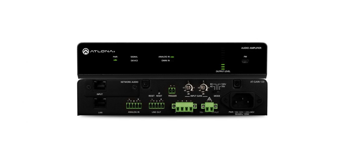Atlona to Unveil Gain SeriesWired and Networked Amplifiers at ISE 2018