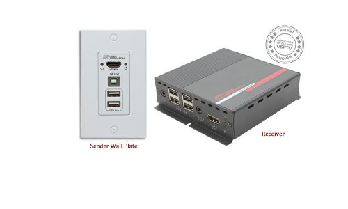 Hall Research EX-HDU Offers HDMI, USB Extension on Cat 6 with Audio, Integrated Control