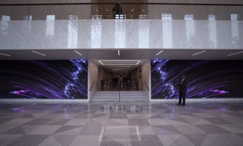 Chicago's Aon Center Lobby Has Two 42-Foot-Wide NanoLumens LED Displays