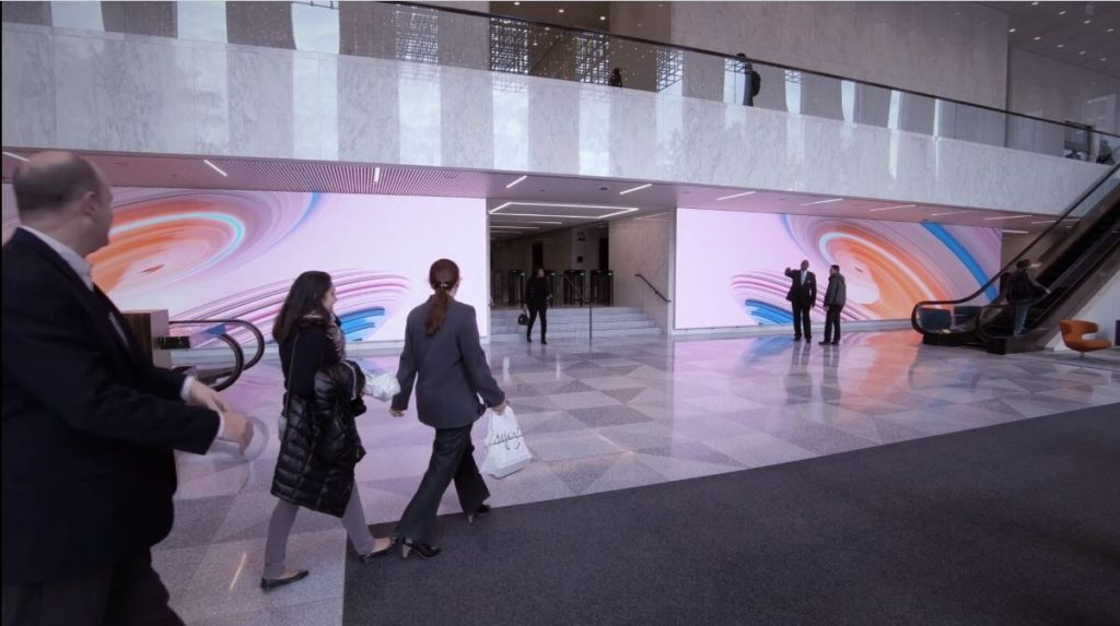 NanoLumens LED displays, Aon Center