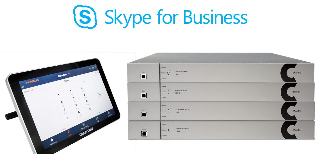 ISE 2018: ClearONE CONVERGE Pro 2 Series Supports Skype for Business