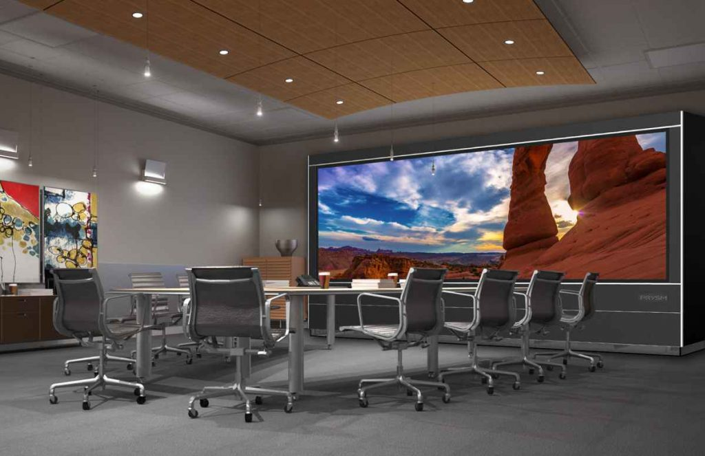 Prysm LPD 6K, 190-inch single panel, video wall, Prysm video wall