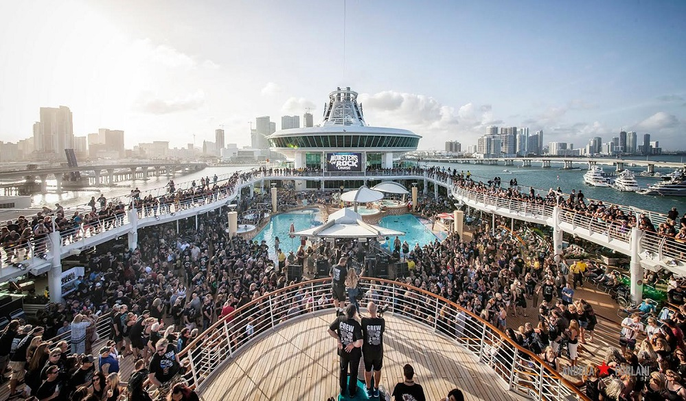 The Aggressive Sound Aboard Monsters of Rock Cruise Line is Powered by L-Acoustics K2 & Kara Systems