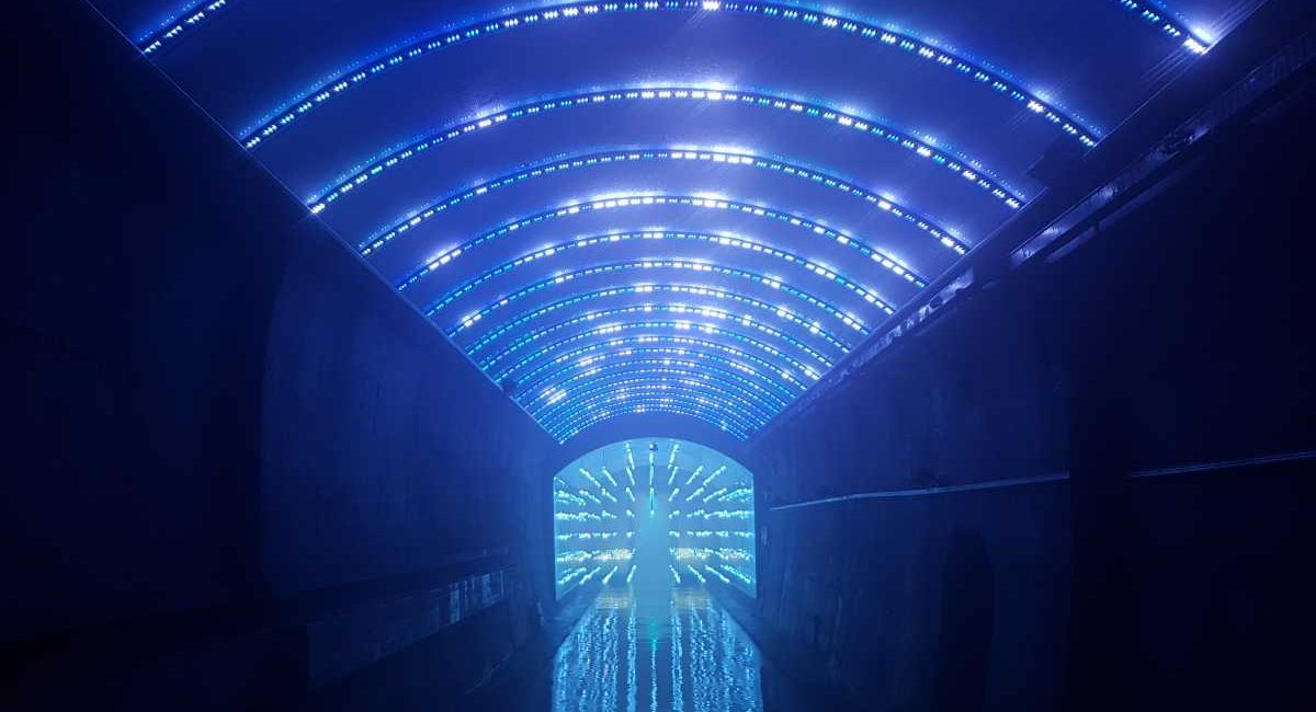 South Korea's Suyanggae Light Tunnel Is Now a Multimedia Tunnel