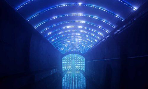 SuyanggaeLightTunnel, multimedia tunnel, Media-Façade