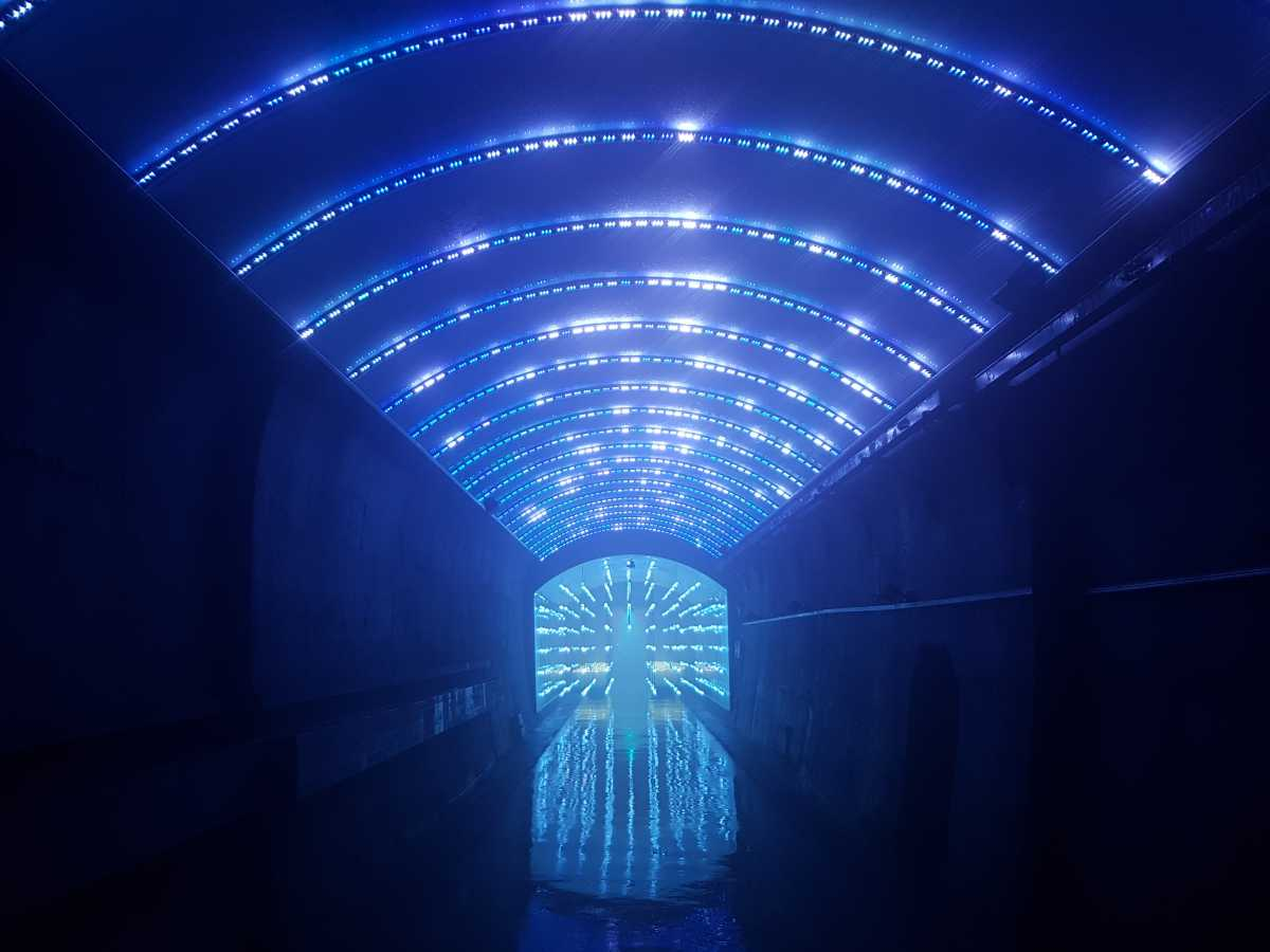 South Korea S Suyanggae Light Tunnel Is Now A Multimedia