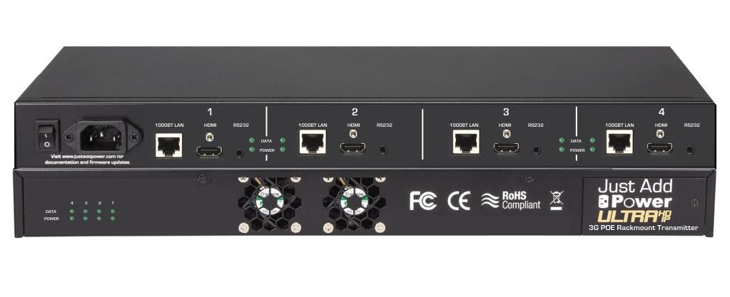 New Just Add Power Rackmount PoE Transmitter Supports Dolby Atmos and DTS:X