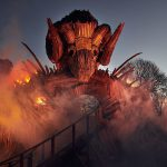Wicker Man roller coaster, ProLights, AlphaPIX video system, LED display
