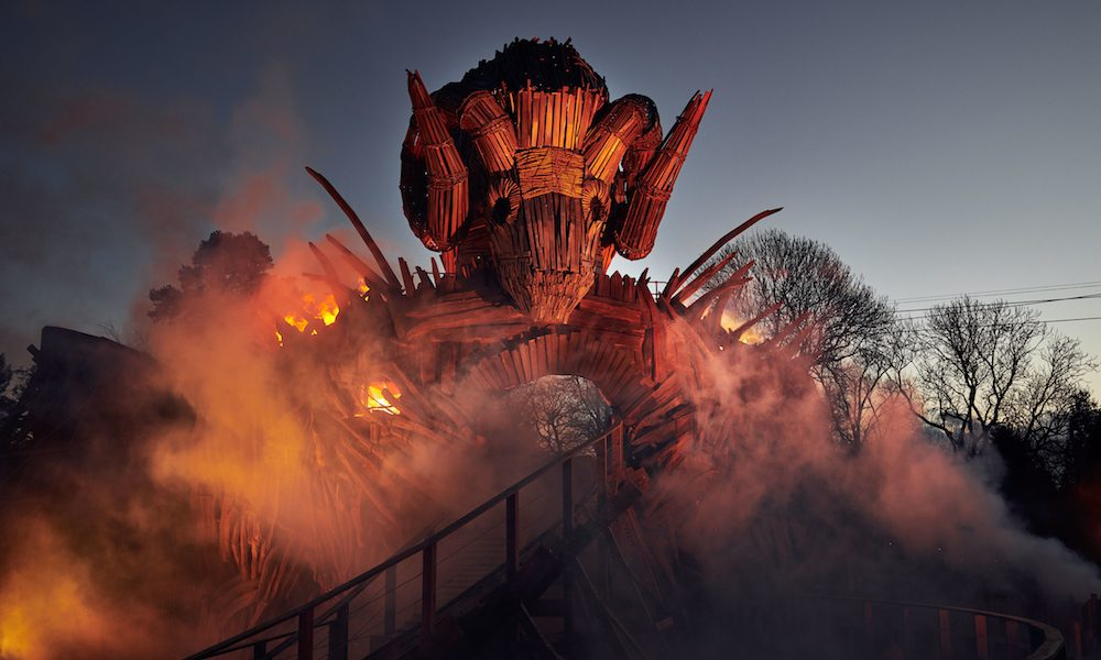 Wicker Man Rollercoaster Uses REAL Fire (and ProLights AlphaPIX) to Thrill Riders
