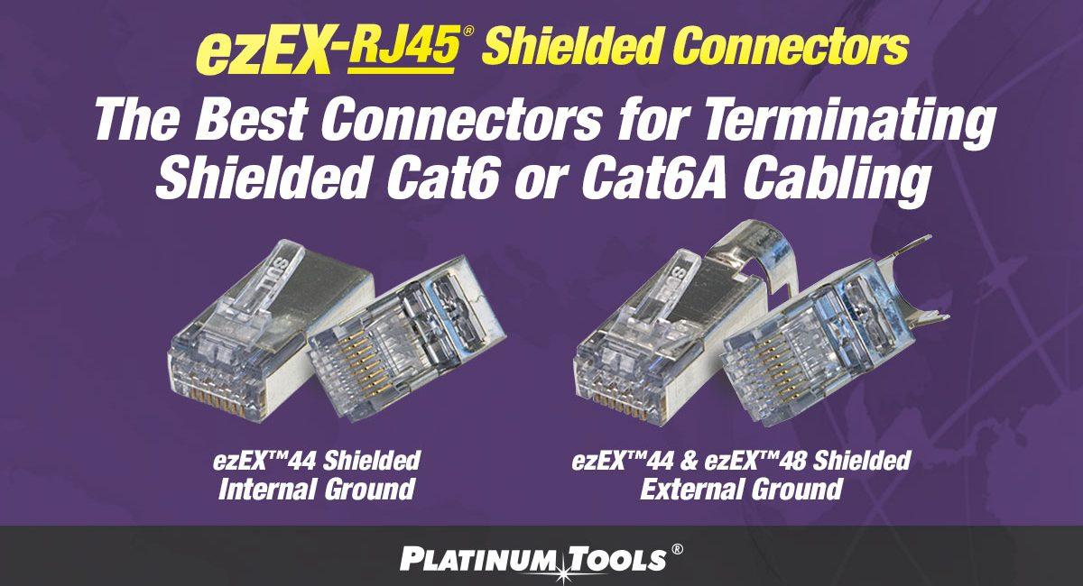 Platinum Tools Features New ezEX-RJ45 Shielded Connectors at InfoComm 2018