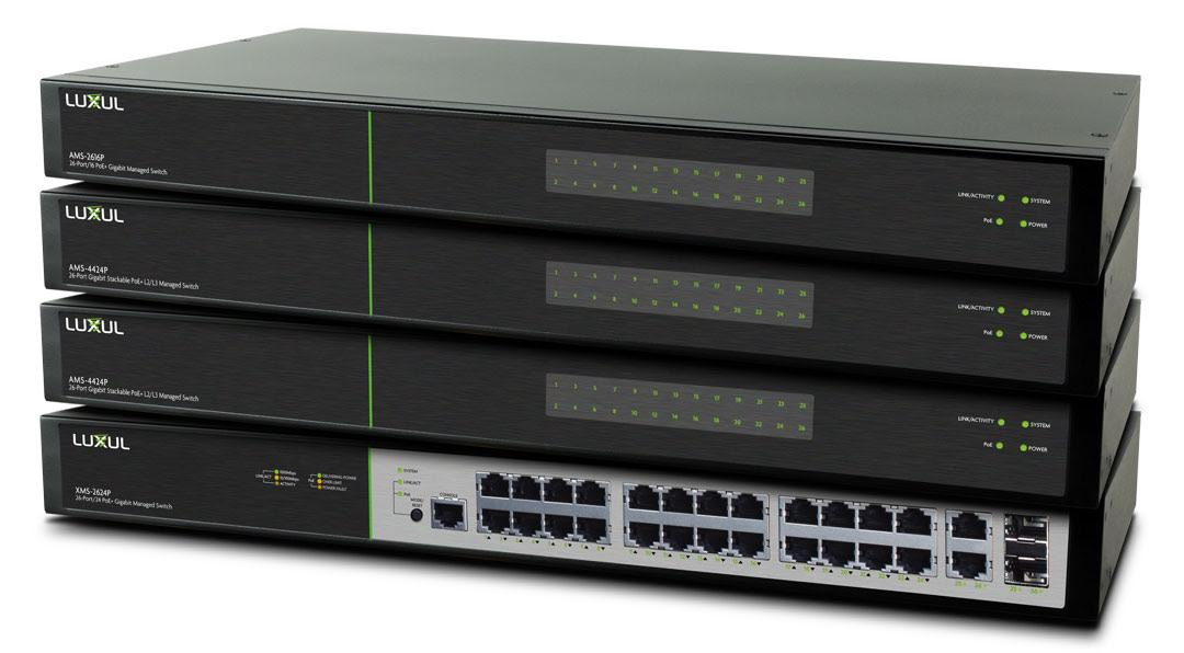 Luxul Preconfigured L2/L3 Managed Switches Make Integrating into a Network Easier