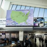 direct-view LED displays, direct-view LED installation, dvled, Christie Velvet LED Buffalo Niagara Airport_resized