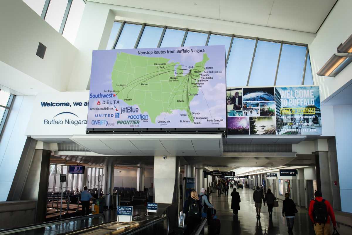Christie Velvet LED Buffalo Niagara Airport_resized
