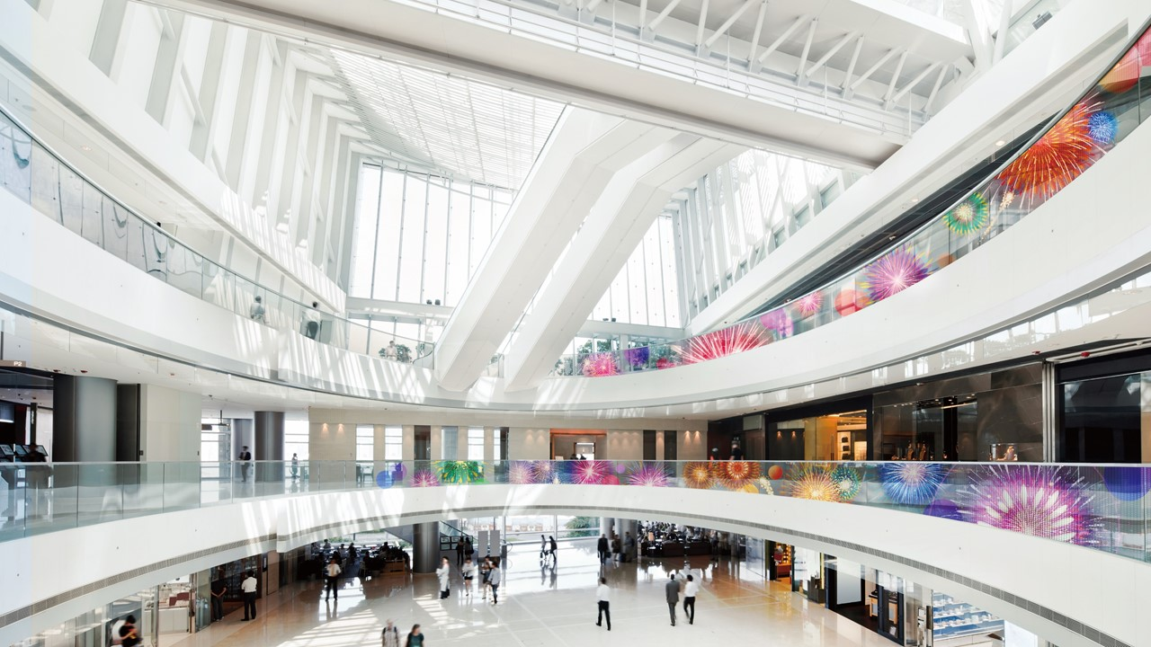 LG Transparent Color LED film display