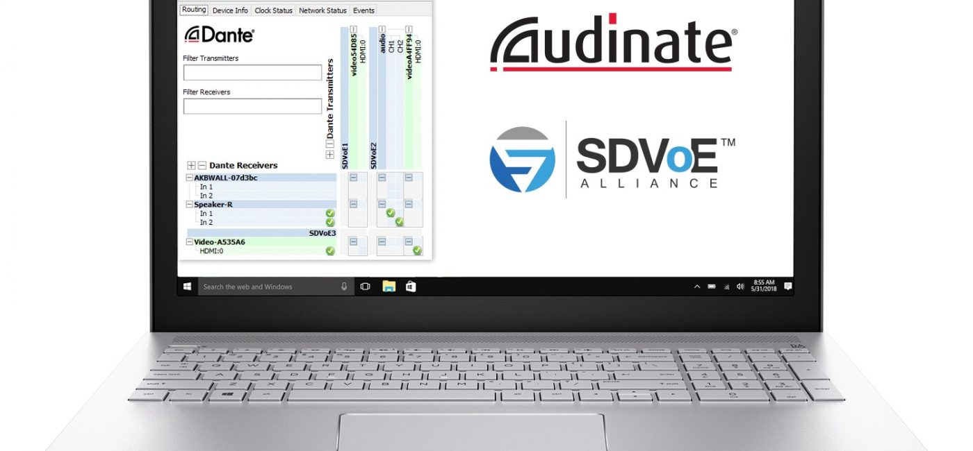 Audinate Joins SDVoE Alliance, Will Show Dante Controller with SDVoE Devices