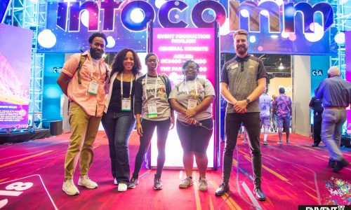 EnventU Students Get Hands-On AV Experience at InfoComm 2018