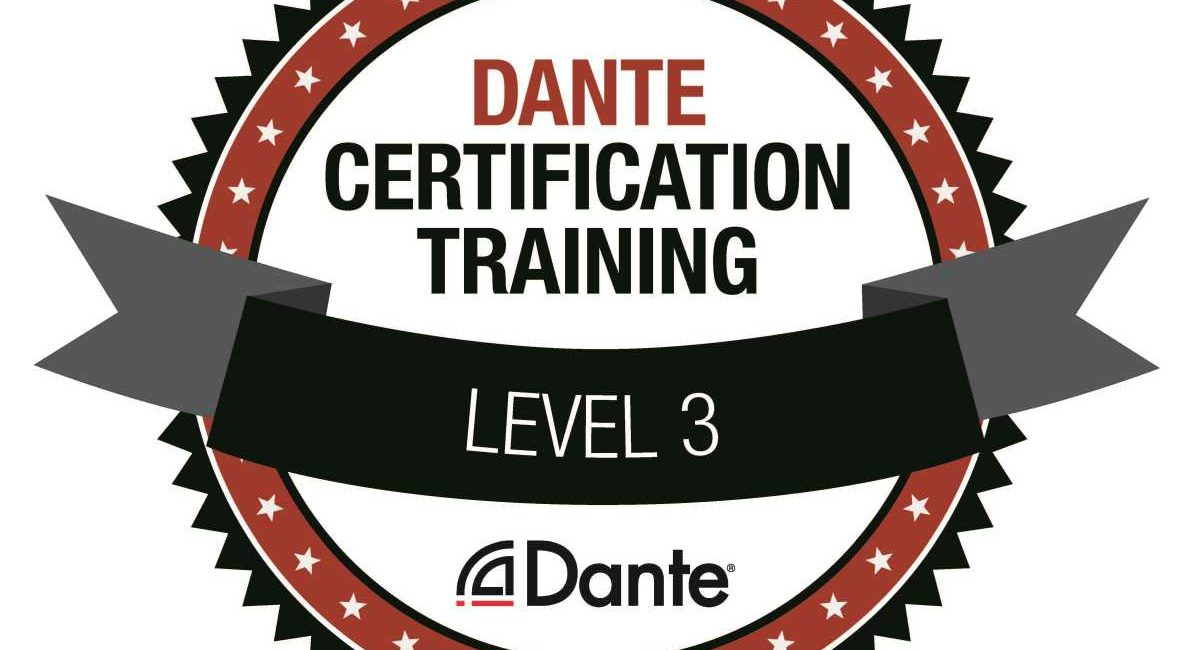 Audinate Dante Level 3 Certification Training Is Available Online