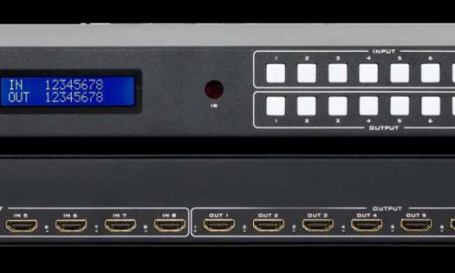 Hall Research HSM-88-4K 8X8 HDMI matrix switch with IR, RS-232, and IP control