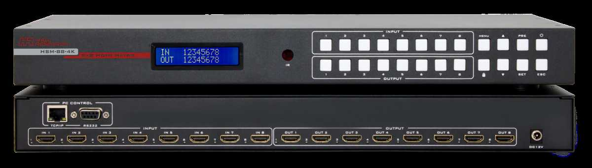 Hall Research 4K 8X8 HDMI Matrix Switch Is Professional Grade Yet Affordable