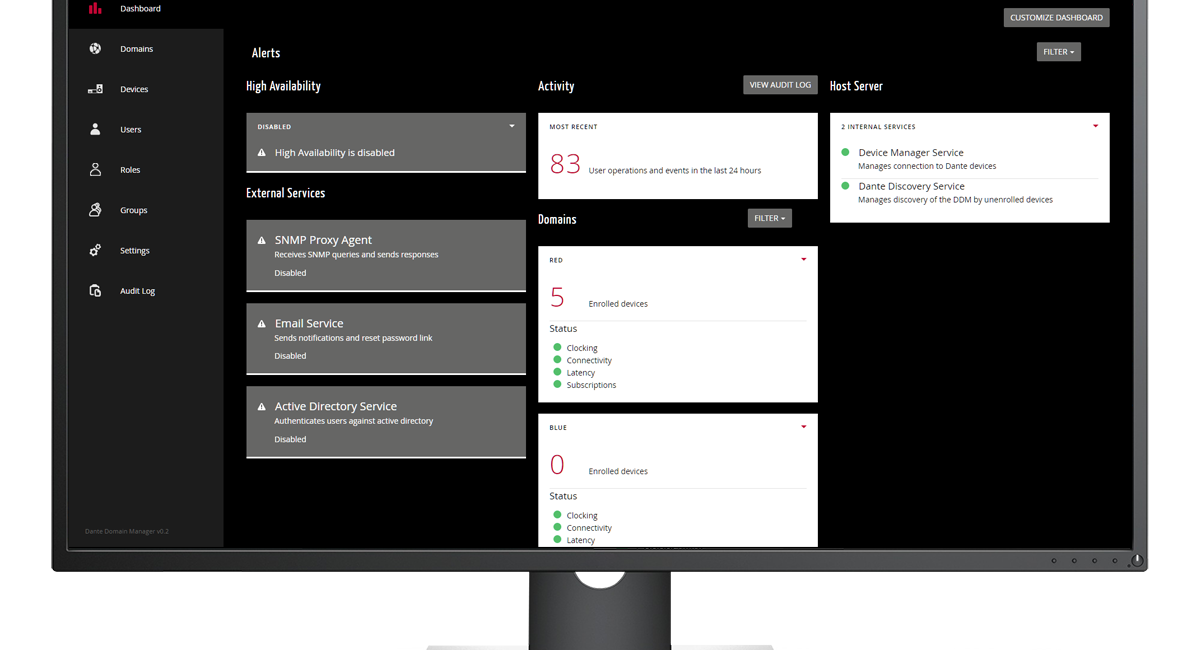 Audinate Strengthens Dante Domain Manager with New Version Release