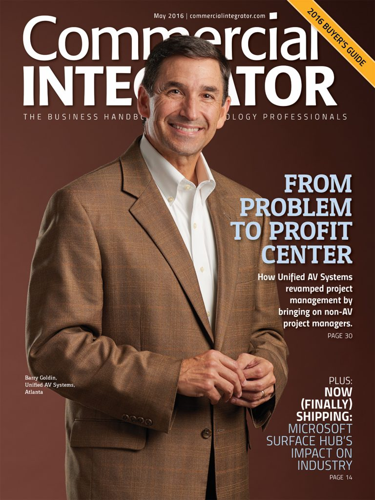 May 2016: Commercial Integrator