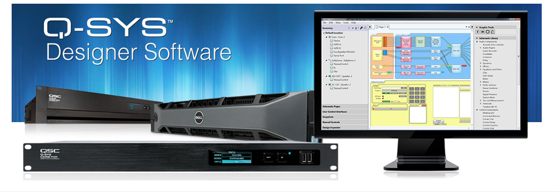 QSC Designer Asset Manager Allows Integrators to Easily Download Any Q-SYS Asset