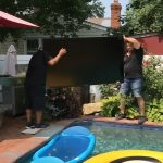 poolside TV, TV installation, 75-inch Sunbrite