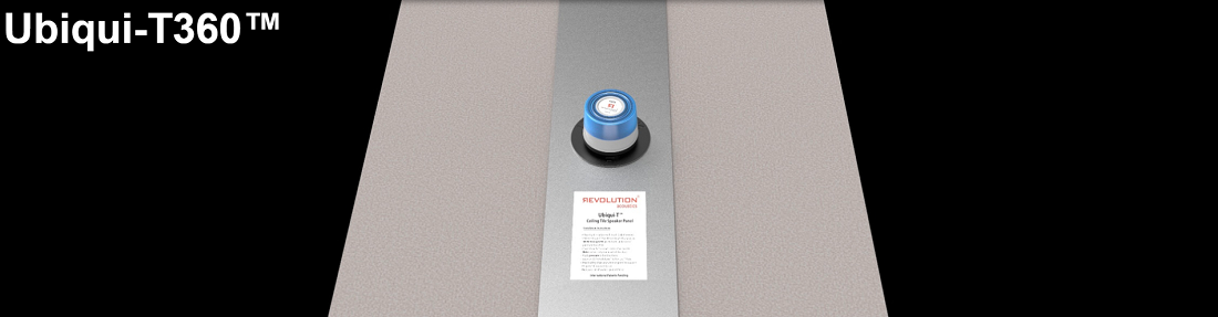 Revolution Acoustics Ceiling Tile Mount Hides Speakers Completely While Retaining 360-Degree Sound