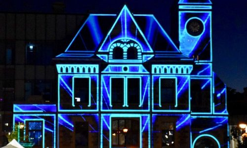 Old Galt Post Office Transforms to Digital Library in Spectacular Projection Mapping Fashion