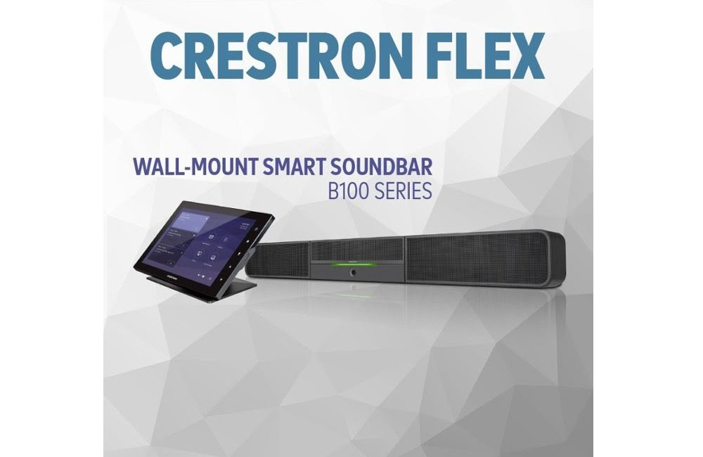 Crestron Flex B100 Series Soundbars Target UCC with Native Microsoft Teams, Skype for Business