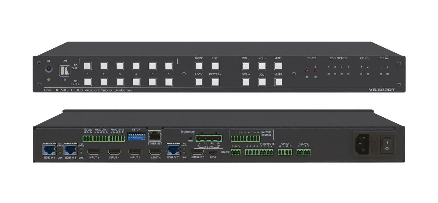 Kramer Now Shipping VS-622DT All-in-One Presentation System