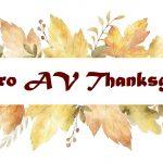 Pro AV Industry Thanksgiving 2018