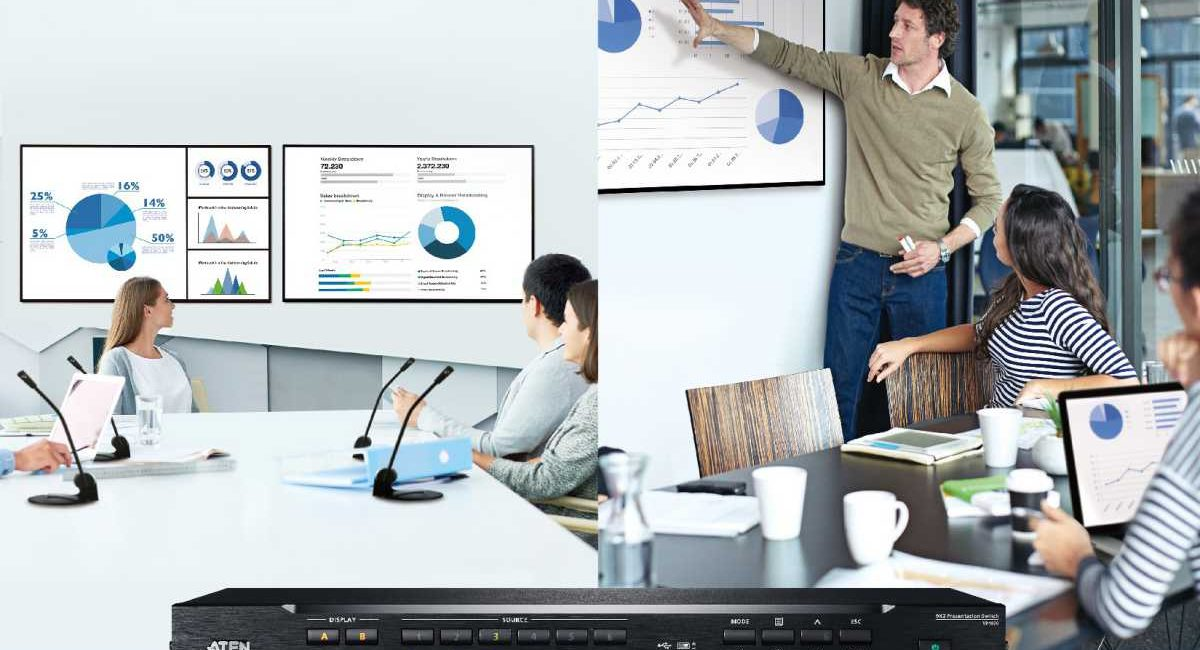 ATEN VP2730 and VP1920 Multi-in-One Presentation Switches Target Meetings