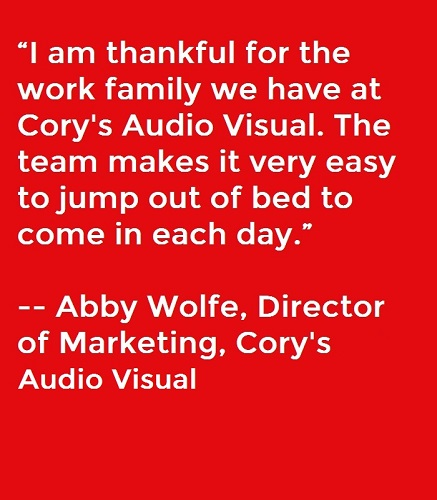 Here's What the Pro AV Industry Says It Is Thankful For This Year, slide 0