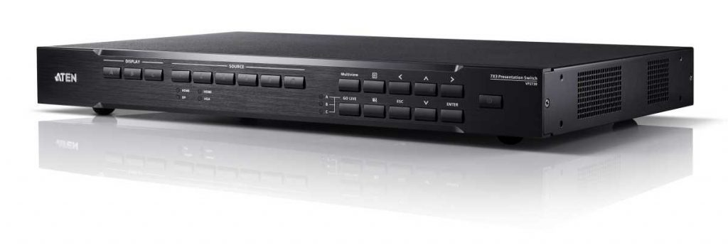 VP2730 the first member of the VP2000 Collaborative Series of ATEN Presentation Switch resized
