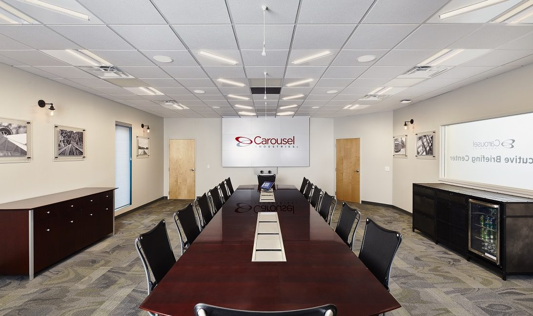 Carousel Industries Installs Brightline's New PoE Video Conferencing Lights