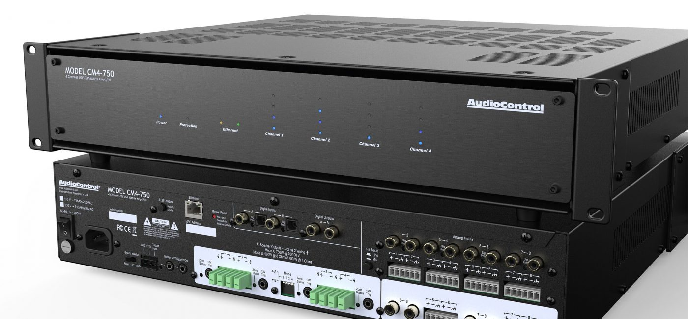 AudioControl to Unveil Amplifiers Featuring 70/100 Volt Outputs, DSP Control and More at ISE 2019