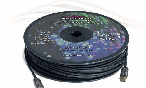 tvONE Active Fiber Optic Cables, 8K video
