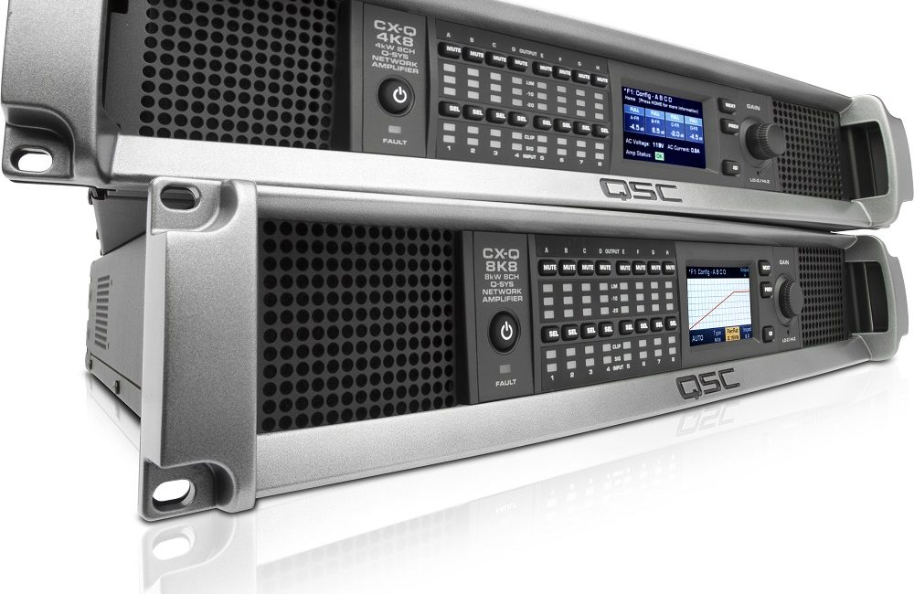 QSC CX-Q Series Network Amplifiers Added to Q-SYS Ecosystem