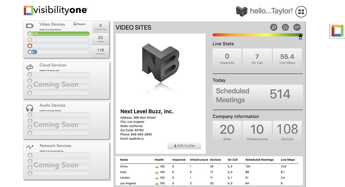 VisibilityOne App Monitors Video Conferencing Systems