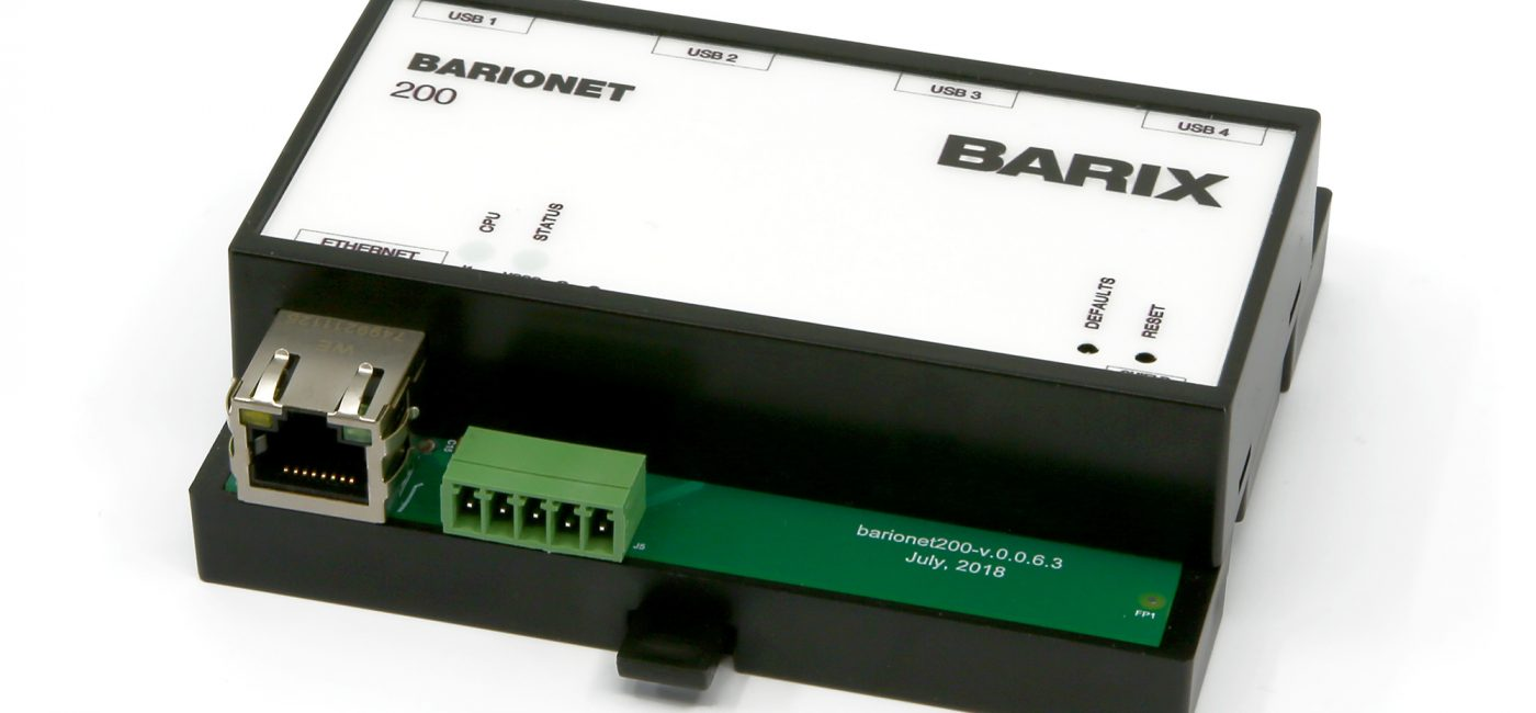 Barix Unveils Linux-Based Barionet Control Automation and IoT Devices