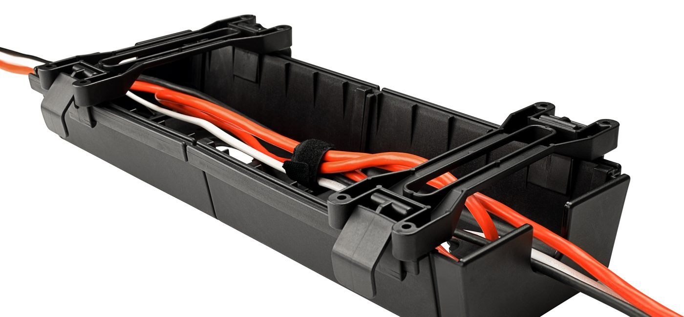 Mockett WM40-90 Under-Desk Cable Trough Wire Manager Hides the AV You Don't Need to See
