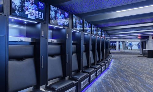 Just Add Power Pumps Up Players and Wows Recruits in Revamped University of Memphis Locker Room