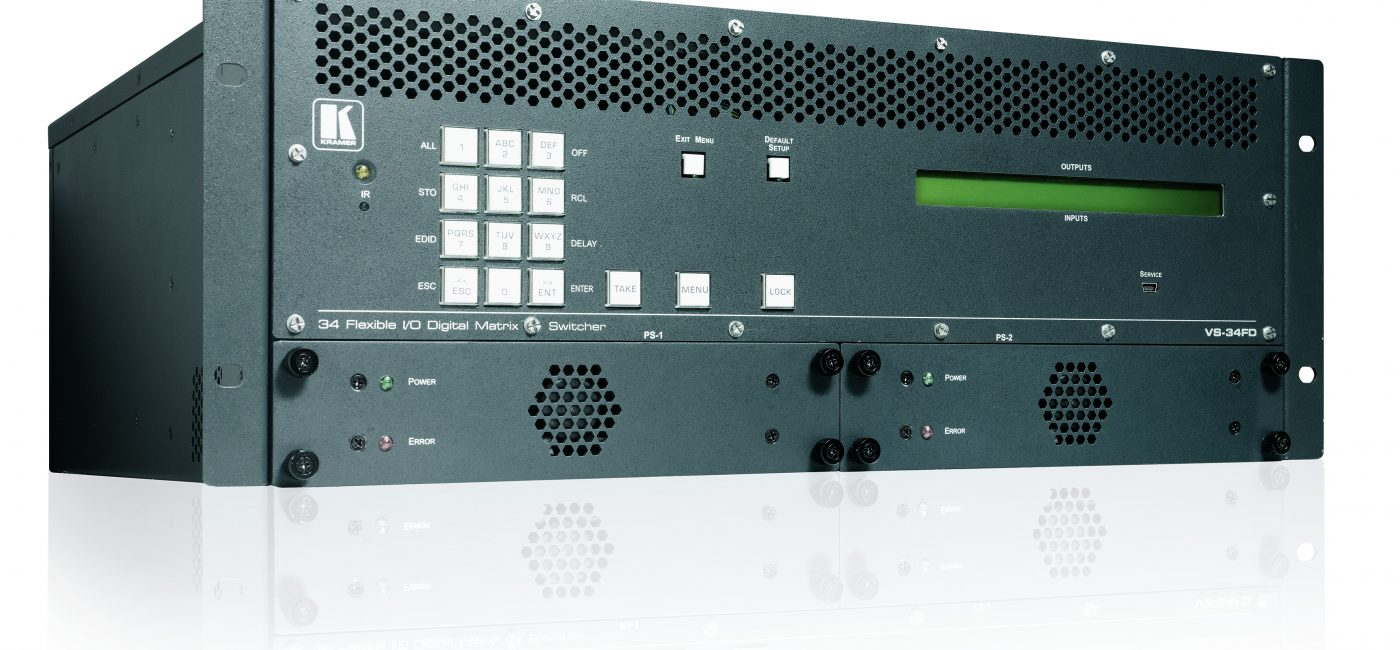 Kramer to Show 8K-Ready Multi-Format Digital Matrix Switcher with Interchangeable I/Os at InfoComm 2019