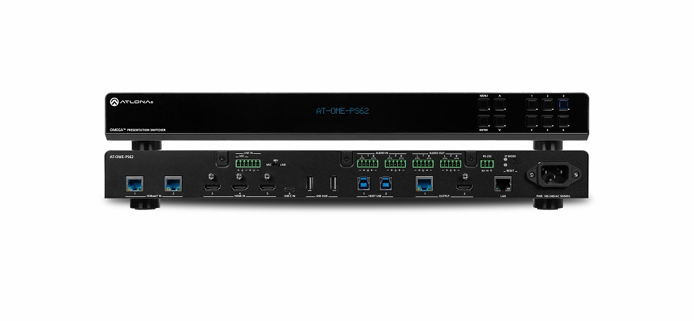 Atlona AT-OME-PS62 6×2 Matrix Presentation Switcher Now Shipping