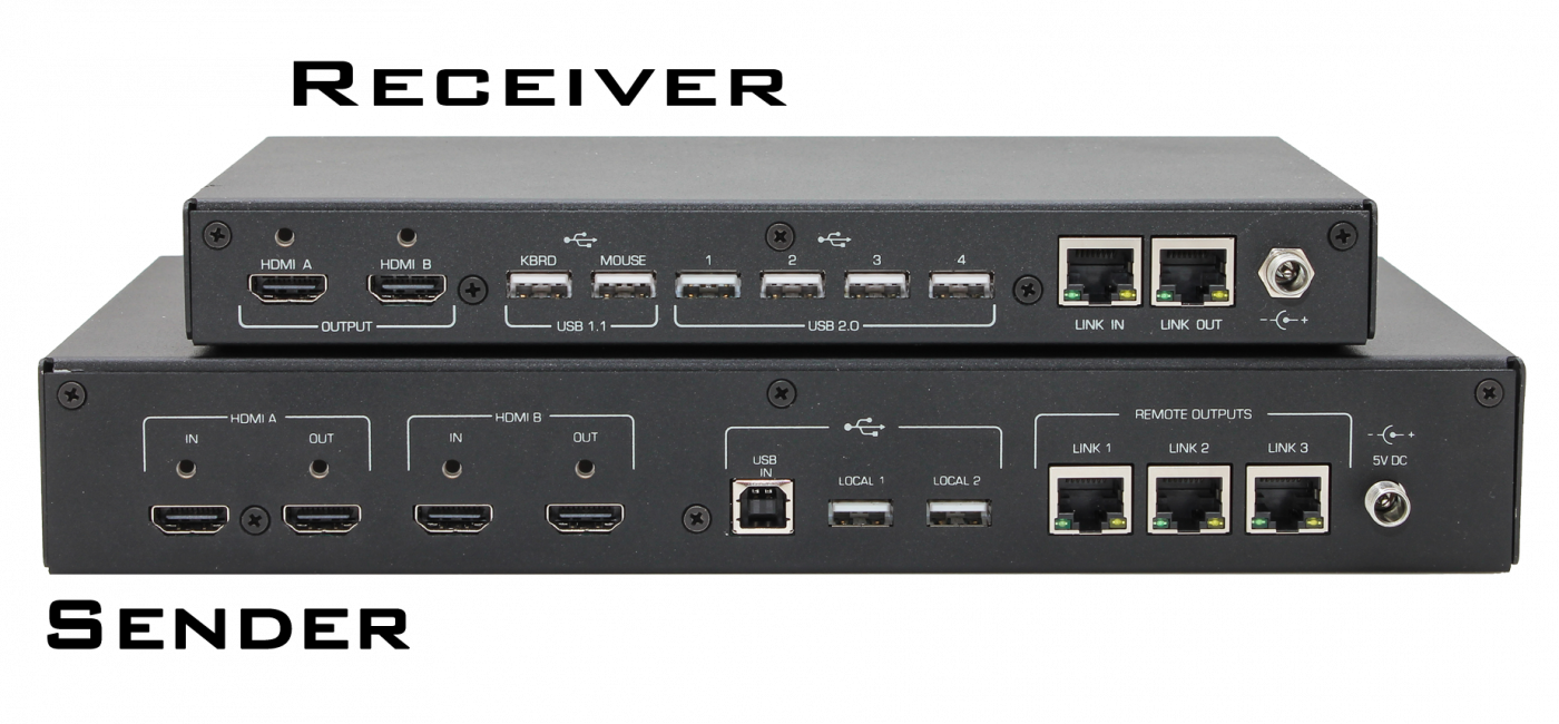 Hall Research Announces ULTRA-4K Dual-Head HDMI and USB KVM Extender