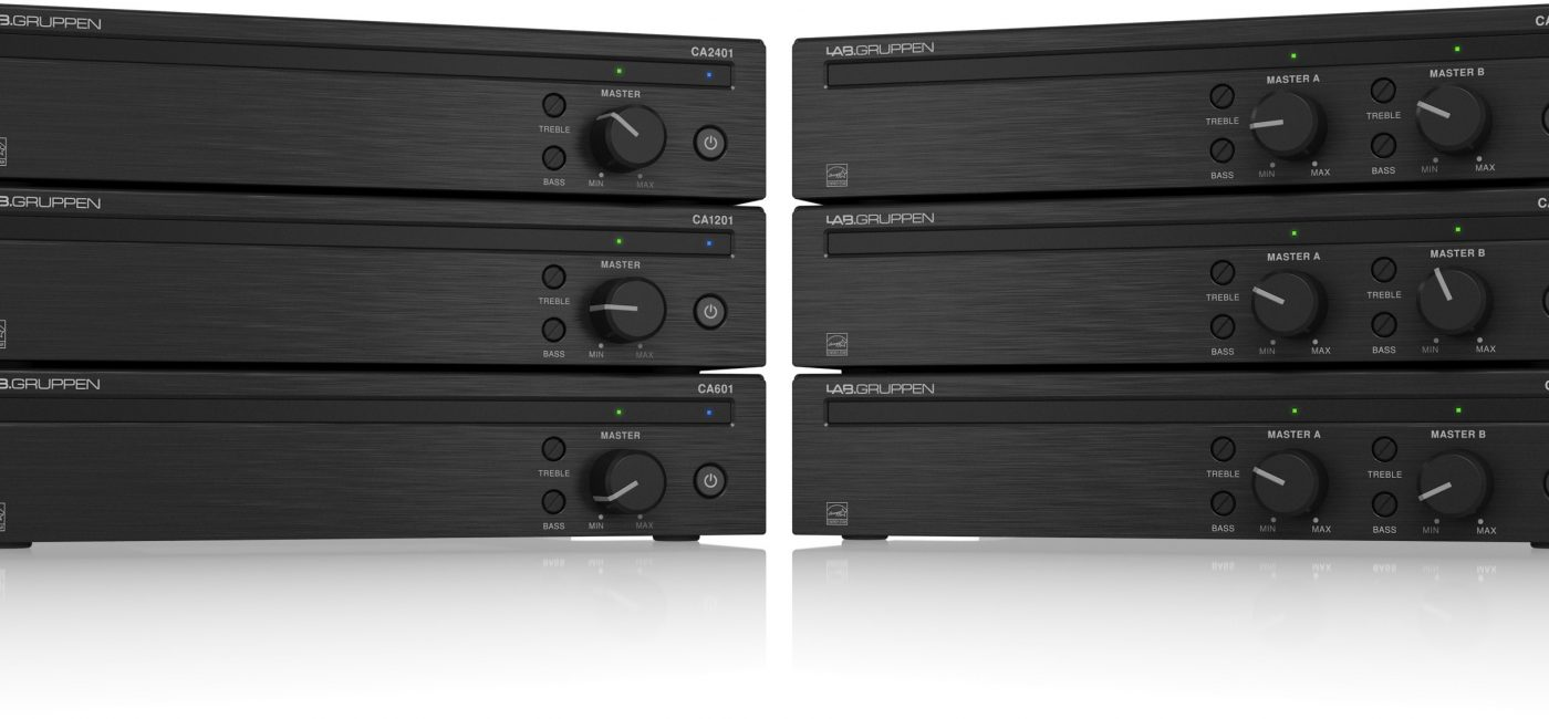 Lab Gruppen Introduces CA Series Amplifiers for Commercial Audio Installations
