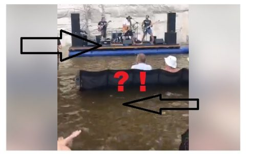 This Floating Concert Looks Pretty Dangerous…Would You Have Set Up the Audio?